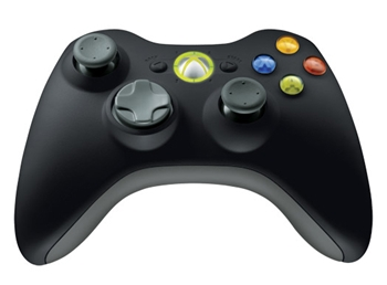 Picture of Microsoft Xbox360 Wireless Controller (Black)