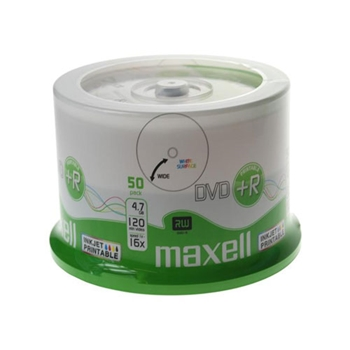 Picture of Maxell Inkjet Printable DVD+R 50pk.