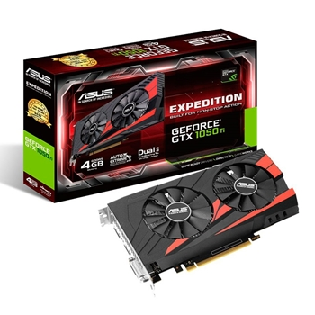 Picture of Asus NVIDIA GeForce GTX 1050 EX-GTX1050-2G 2 GB GDDR5 128 Bit Memory HDMI/DP/DVI PCI Express 3 Graphics Card - Black