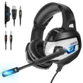 Picture of ONIKUMA Gaming Headset with  Deep Bass Stereo and Microphone Wired Earphone LED light for Computer PC PS4 Laptop Xbox