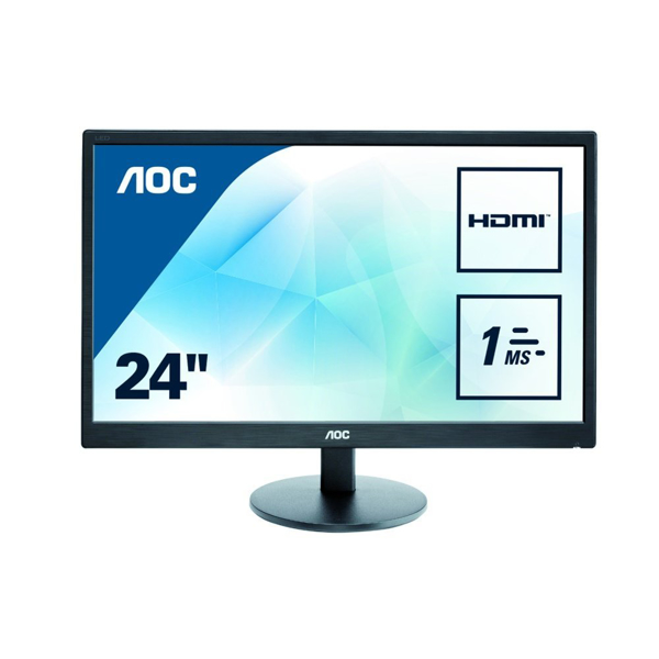 "AOC E2470SWH 23.6"" Full HD 1ms Gaming Monitor with Speakers"