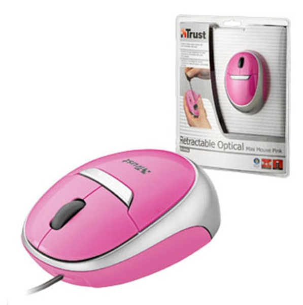 Picture of Trust Retractable Optical Mini Mouse Pink MI-2850Sp
