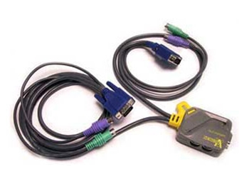 Picture of 2 Port PS2/D-Sub KVM Switch with Cables