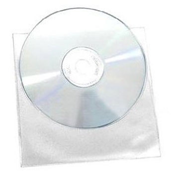 Picture of Plastic CD DVD Sleeves 100pk