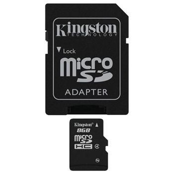 Picture of Kingston MicroSDHC 8GB Class 4 SDC4/8GB Micro Secure Digital HC