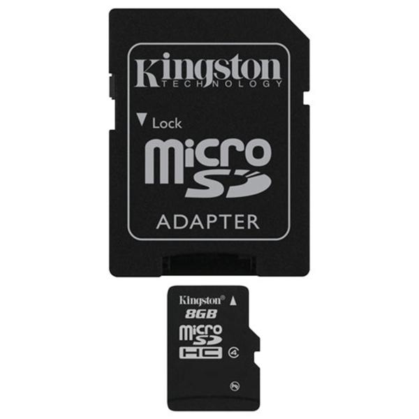 Picture of Kingston MicroSDHC 8GB Class 4 SDC4/8GB Micro Secure Digital HC