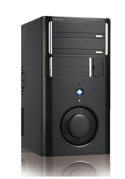 Picture of EZ Cool Piano Black Mid Tower Case  with 500Watt PSU