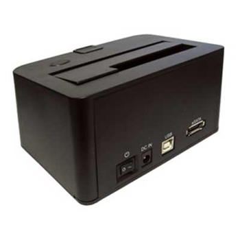 "Picture of USB 2.0/eSATA - SATA HDD Docking Station for 2.5"" and 3.5"" Drive"