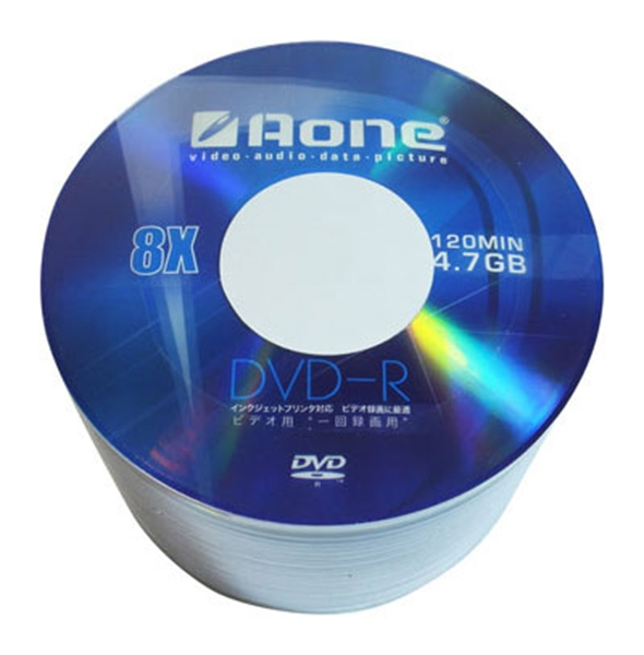 Picture of Aone DVD-R 16x- Printable- 50pk cellowrap