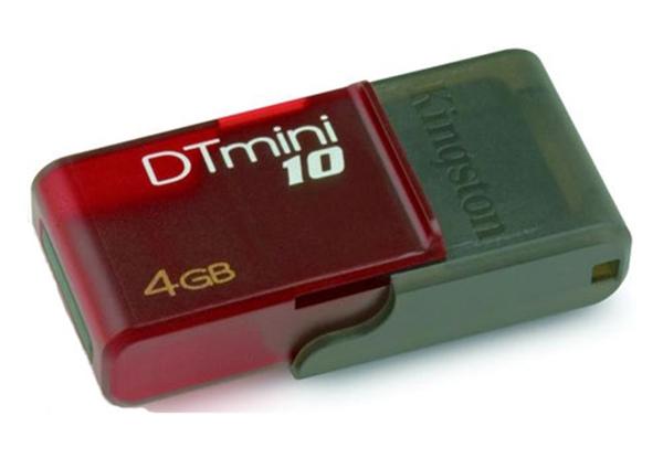Picture of Kingston DataTraveler mini10 DTM10/4GB Flash Drive - 4 GB