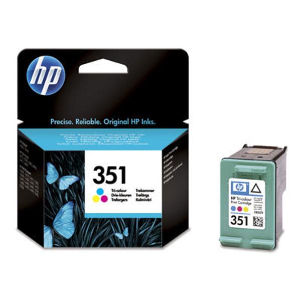 Picture of Original HP 351 Tri-colour Inkjet Print Cartridges (CB337EE)