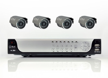 Picture of 4 Channel H.264 DVR 500GB Cable Kit including 4x IR CCD Cameras