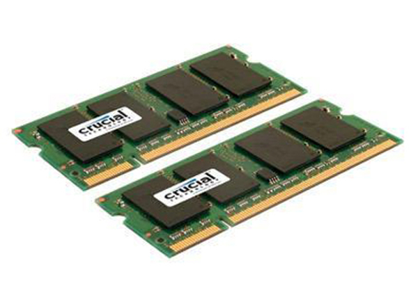 Picture of Crucial 4GB (2x2GB) 800MHz/PC2-6400 Laptop Memory Kit