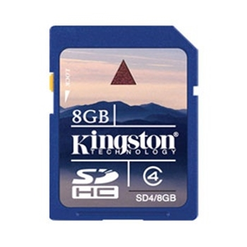 Picture of Kingston 8GB SD Card (SDHC) - Class 4