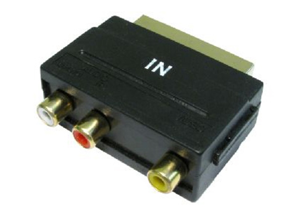 Picture of Scart Input Adaptor with phono RCA Connectors