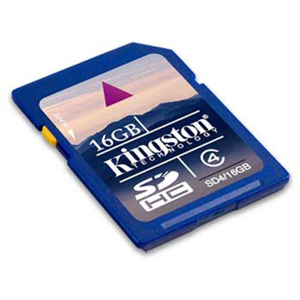 Picture of Kingston Secure Digital Card 16GB - Class 4