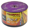 Picture of Colourfull DVD-R DVD 8X 4.7GB 120min Blank Media Disc