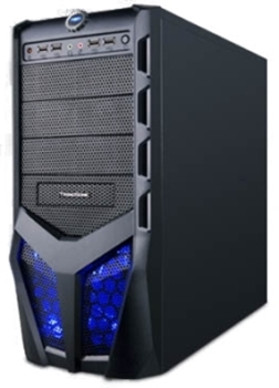 Picture of Cavalier Mid Tower Black Blue LED Mesh Front