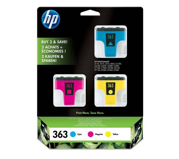 Picture of Original  HP 363 Colour Ink Cartridges