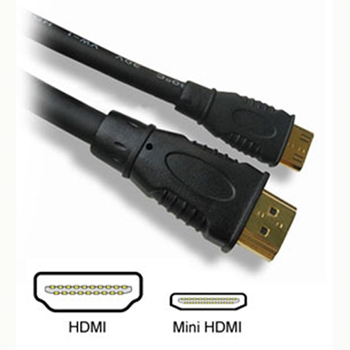Picture of HDMI Mini C to HDMI Standard A Gold Plated Cable