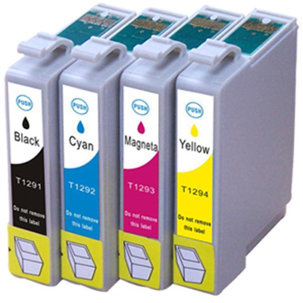 Picture of Non-OEM Compatible Epson T1291/T1292/T1293/T1294 a Set of 4 Cartridges