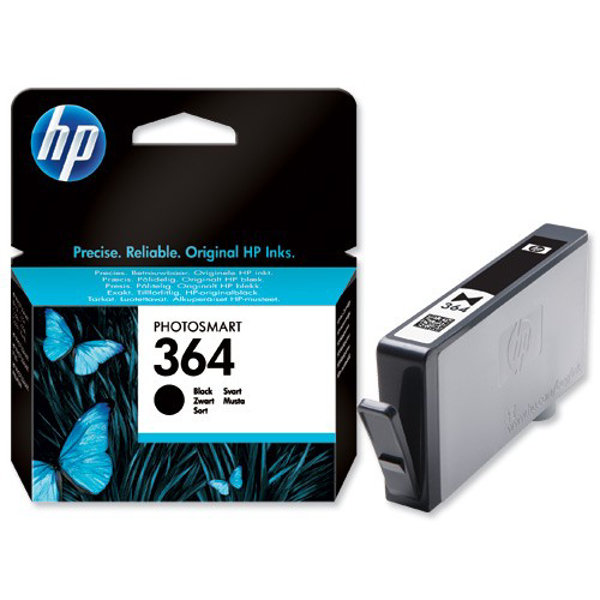 Picture of Original HP 364 Black Ink Cartridges for HP Photosmart Printers