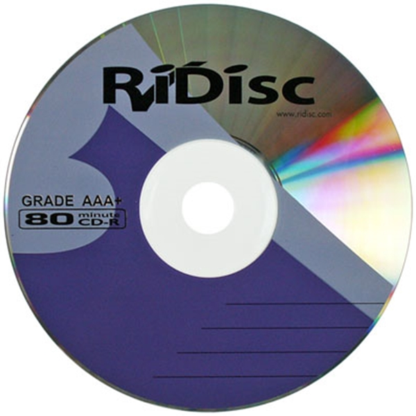Picture of Ridisc Branded CDR 52x 700MB / 80 Minute Recordable Compact Discs 50 pack