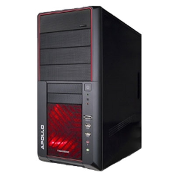 Picture of Apollo Mid Tower Black Red LED Fan