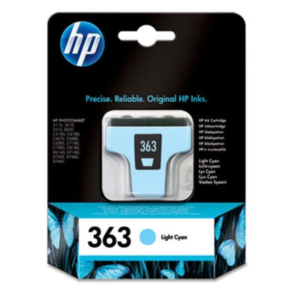 Picture of Original  HP 363 Light Cyan Ink Cartridge