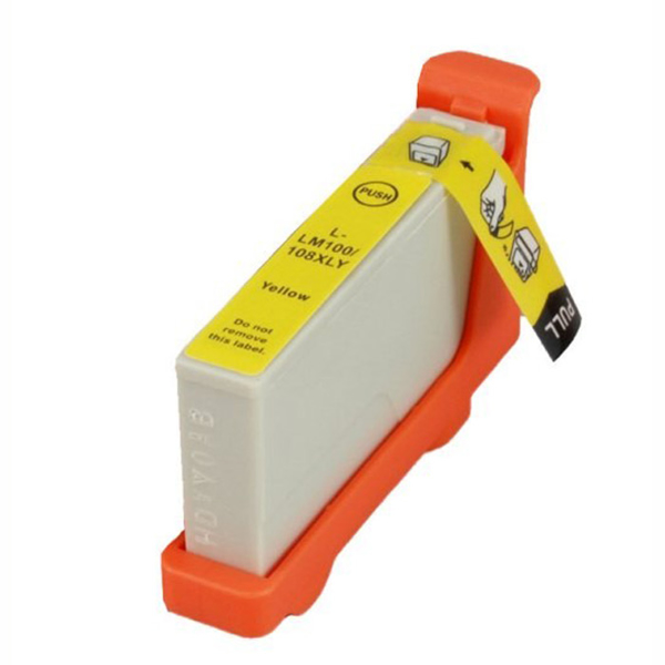 Picture of Non-OEM Lexmark 100XL Yellow High Capacity Ink Cartridge