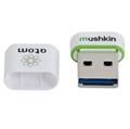 Picture of Mushkin 16GB USB 3.0 Memory Pen, Atom Series, Nano Size, White-Green