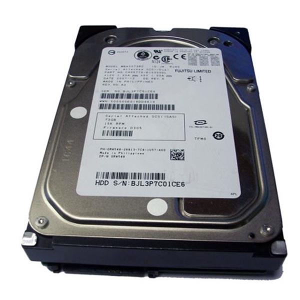 Picture of Fujitsu Siemens 73GB SAS 15K 3.5 Hot Plug Hard Drive Dell HP IBM Servers