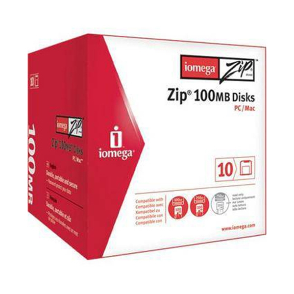 Picture of Iomega 100mb Zip Disk PC format 10Pack