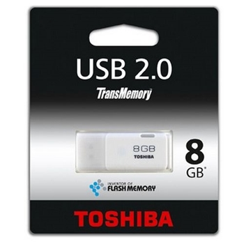 Picture of Toshiba 8GB USB 2.0 Memory Pen, Transmemory Hayabusa, White