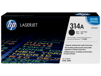Picture of Original HP Color LaserJet Q7560A Black Laser Toner Cartridge
