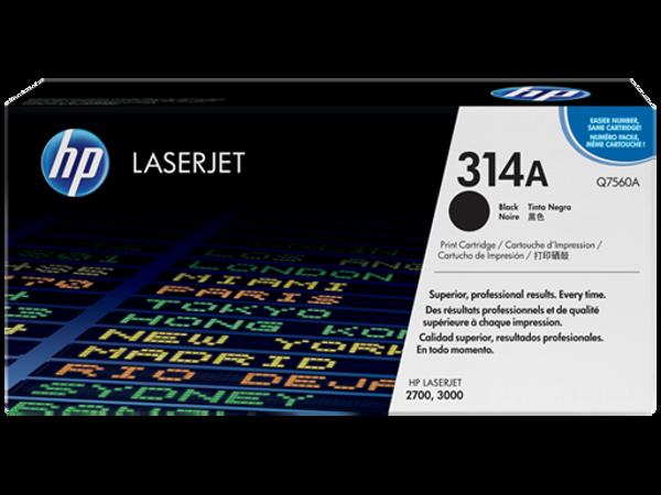 Picture of Original HP Color LaserJet Q7560A Black Laser Toner Cartridge