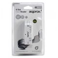 Picture of External Multi Card Reader, 4 Slot, USB Powered, White