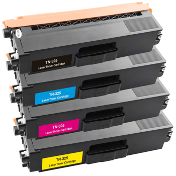 Picture of Non-OEM Compatible Brother TN325 MultiPack Black Cyan Magenta Yellow Toner Cartridges