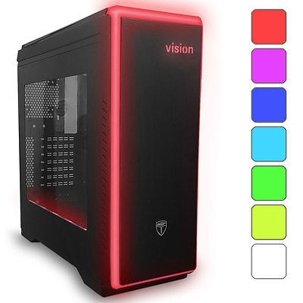 Picture of AvP Vision Mid Tower Black Case with LED Lighting System
