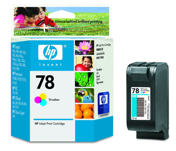 Picture of Original HP 78 Ink cartridge - 1-pack Yellow, cyan, magenta