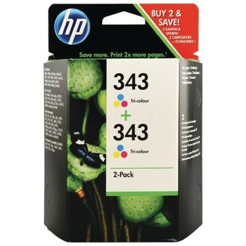 Picture of Original HP 343 Tri Colour Ink cartridge CB332EE