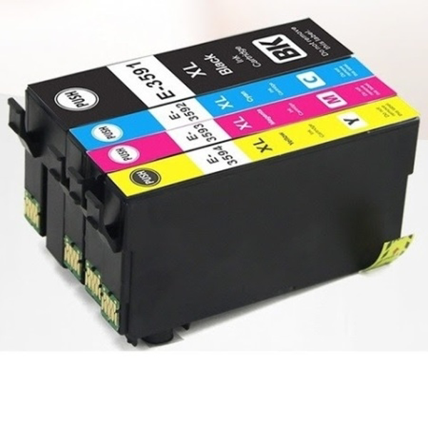 Picture of Non-OEM Compatible EPSON T3596 35 XL  Cyan, Magenta & Yellow Ink Cartridges  - Multipack