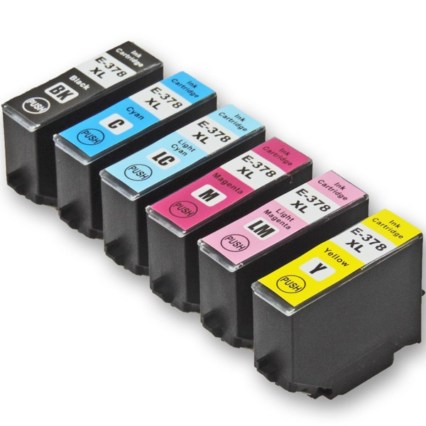 Picture of Non-OEM Compatible Epson 378XL a Set of 6 Ink Cartridges High Capacity T3781/T3782/T3783/T3784/T3785/T3786
