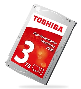 "Picture of Toshiba 3.5"", 3TB, SATA3, P300 Hard Drive, 7200RPM, 64MB Cache"