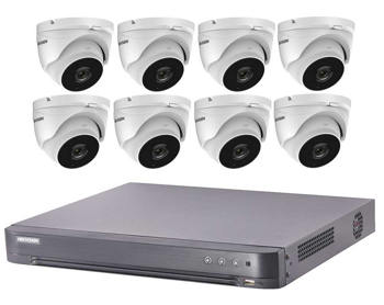 HIKVISION 5MP CCTV system UHD 4K DVR 4CH 8CH EXIR 40M Night Vision CAMERA KIT
