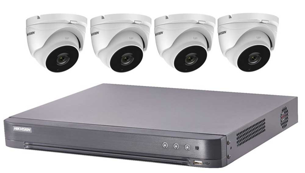 HIKVISION 5MP CCTV system UHD 4K DVR 4CH 4CH EXIR 40M Night Vision CAMERA KIT