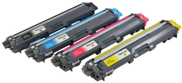 Picture of Non-OEM Compatible Brother TN241 Toner Cartridge Black Cyan, Magenta, Yellow