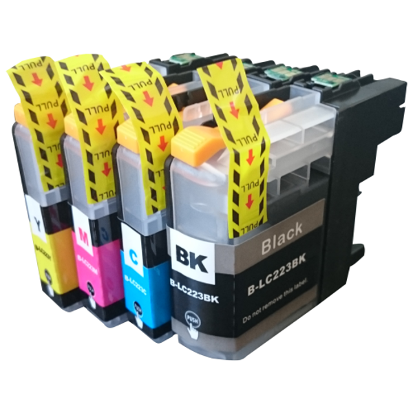 Picture of Non-OEM Compatible Brother LC223 XL Ink MultiPack - 4 Inks