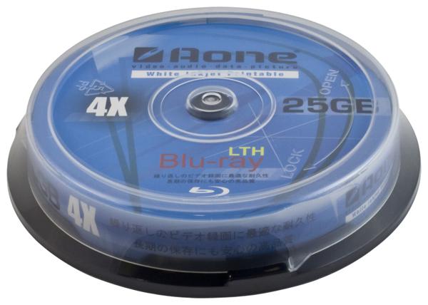 Aone (Blu-ray) BD-R 25GB 4x Speed Single Layer Disc
